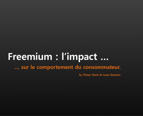 Freemium impact sur le consommateur