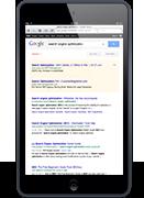 Ecran iPad - Page de résultat Google