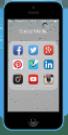 Ecran iPhone 5C - Réseaux Sociaux