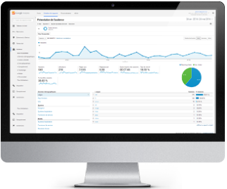 Ecran iMac - Google Analytics